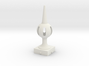 Signal Finial (Pierced Ball) 1:6 scale in White Natural Versatile Plastic