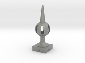 Signal Finial (Pierced Ball) 1:6 scale in Gray PA12