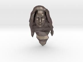 Wonder Woman Head in Polished Bronzed-Silver Steel