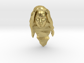 Wonder Woman Head in Natural Brass