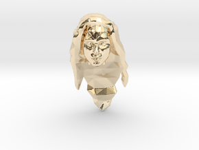 Wonder Woman Head in 14K Yellow Gold