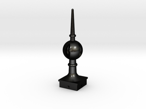 Signal Finial (Open Ball) 1:6 scale in Matte Black Steel