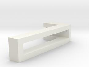 CHOKER SLIDE LETTER 7 1⅛, 1¼, 1½, 1¾, 2 inch sizes in White Natural Versatile Plastic: Extra Small