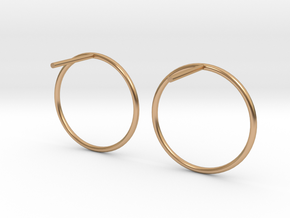 Billabong Circle Earrings in Polished Bronze