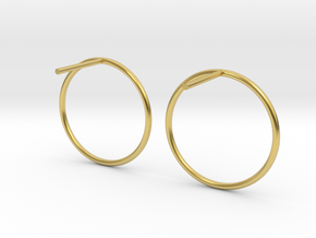Billabong Circle Earrings in Polished Brass