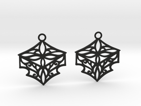 Adalina earrings in Black Natural Versatile Plastic: Small