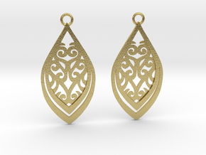 Nessa earrings in Natural Brass: Small