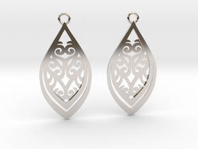 Nessa earrings in Rhodium Plated Brass: Small