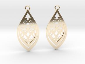 Nessa earrings in 14k Gold Plated Brass: Small