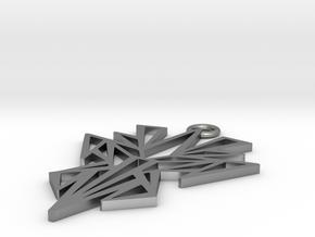 Dark symmetry pendant in Natural Silver: Small