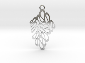Wave pendant in Polished Silver: Medium
