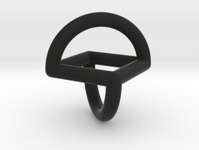 Sphericon pipe 46mm in Black Natural Versatile Plastic