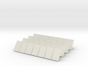 HO Scale Solar Array in White Natural Versatile Plastic