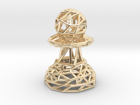 Pawn in 14k Gold Plated Brass