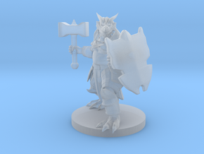 Dragonborn Paladin with Hammer in Smooth Fine Detail Plastic