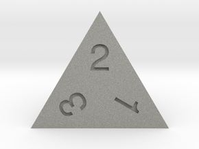 ENUMERATED TETRAHEDRON in Gray Professional Plastic