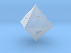 ENUMERATED OCTAHEDRON in Smooth Fine Detail Plastic