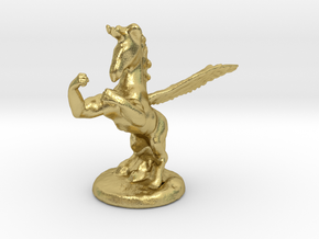 Wada Fu The Flying Fighting Unicorn™ in Natural Brass: Small