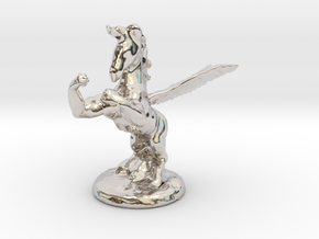 Wada Fu The Flying Fighting Unicorn™ in Platinum: Small