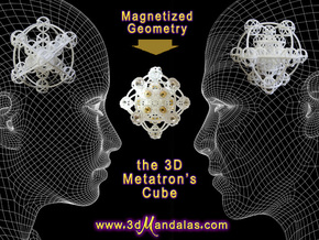 3D Metatron's Sphere: based on Metatron's Cube in White Strong & Flexible