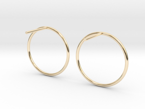 Billabong Circle Earrings in 14K Yellow Gold