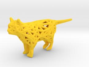 Cat in Yellow Processed Versatile Plastic