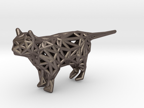 Cat in Polished Bronzed-Silver Steel
