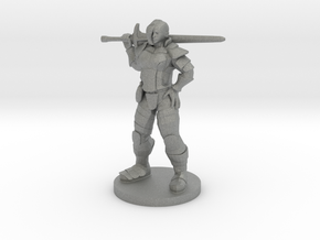 Great Weapon Female Fighter in Gray Professional Plastic