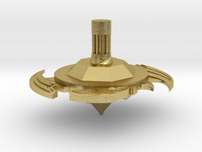Bey spinner in Natural Brass