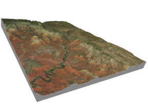 Sedona Arizona Map: 8.5x11 in Full Color Sandstone