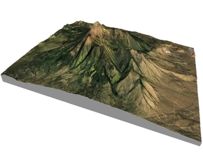 "Humphreys Peak Map: 8""x10"" in Matte Full Color Sandstone"