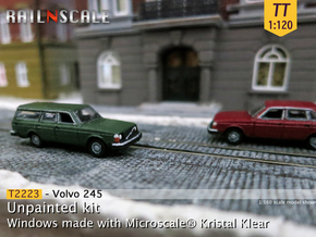 Volvo 245 DL (TT 1:120) in Smooth Fine Detail Plastic