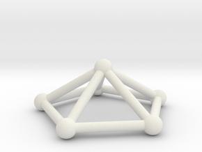 0723 J02 Pentagonal Pyramid V&E (a=1cm) #2 in White Natural Versatile Plastic