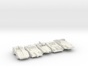 Death Race 2000 cars 285 scale in White Natural Versatile Plastic