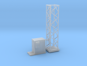 Light Tower Base Site 1-87 HO Scale in Smooth Fine Detail Plastic