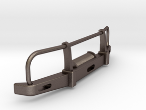 RC Toyota Hilux Bullbar 1:24 scale in Polished Bronzed Silver Steel