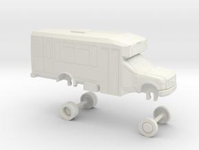 HO Scale Bus Ford E450 Eldorado Aerotech Omnitrans in White Natural Versatile Plastic
