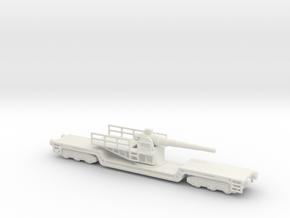 17 cm kanone eisenbahnlafette 1/144 artillery  in White Natural Versatile Plastic