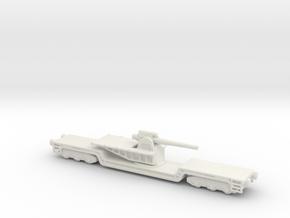 15  cm kanone eisenbahnlafette 1/160 artillery  in White Natural Versatile Plastic