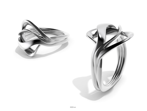 Neutra- Unisex Ring in Fine Detail Polished Silver: 7.25 / 54.625