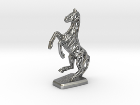 Horse in Natural Silver