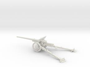 1/48 IJA Type 92 105mm field gun in White Natural Versatile Plastic