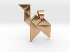 Camel tangram [pendant] in Polished Bronze