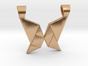 Butterfly tangram [pendant] in Polished Bronze