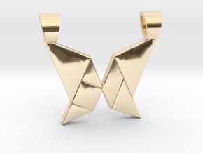 Butterfly tangram [pendant] in 14k Gold Plated Brass