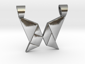 Butterfly tangram [pendant] in Polished Silver