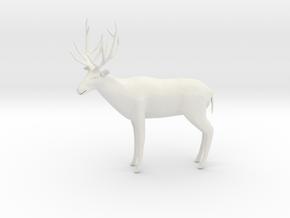 Printle Thing Deer 02 - 1/24 in White Natural Versatile Plastic