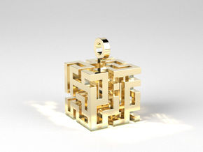 Labyrinth³ in Polished Brass