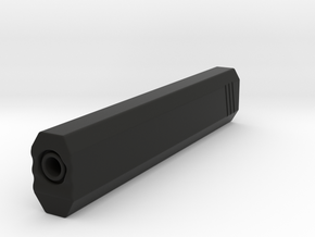 Hexa Silencer (200mm Long) (18mm External Barrel) in Black Natural Versatile Plastic