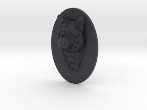 Dog Face + Half-Voronoi Mask (002) in Black Professional Plastic